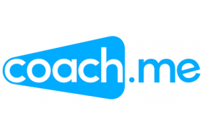 Caoch.me blue and white logo